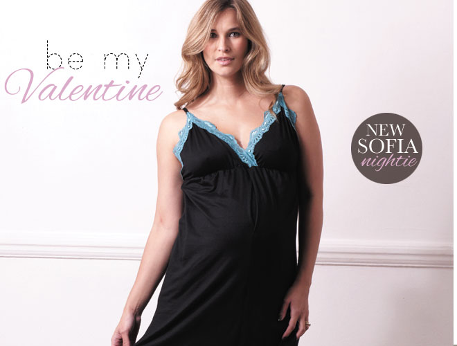 Feel beautiful and sexy in this gorgeous Sofia Lace Trim Nightie by Milky Way