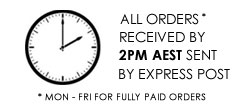 all orders processed up to 2pm aest monday - friday
