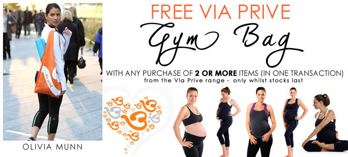 FREE Via Prive gym bag with any purchase of 2 or more items from the range - whilst stocks last