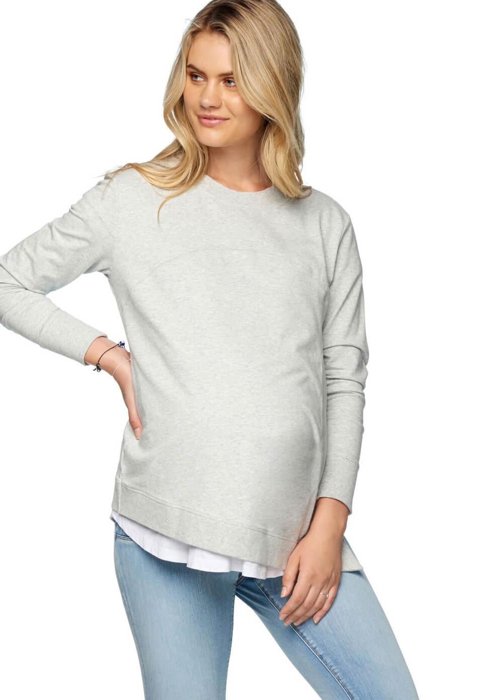 36388e0b16b1a Under Wraps Maternity Nursing Sweater by Bae The Label