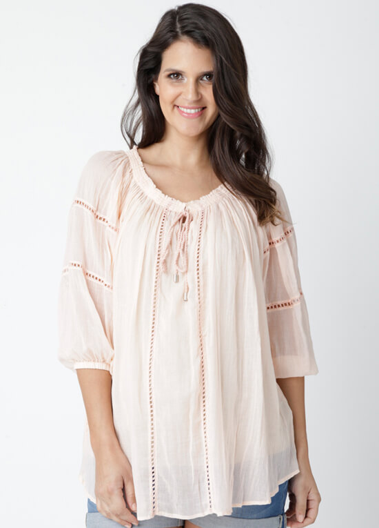 Cheesecloth Baby Doll Maternity Top By Ripe Maternity