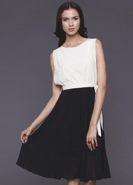 Jessica Nursing Dress In Cream Black By Dote Nursingwear