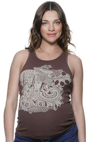 NOM2061 - NOM Brown Goddess Tank :  maternity casual maternity tank maternity maternity clothes