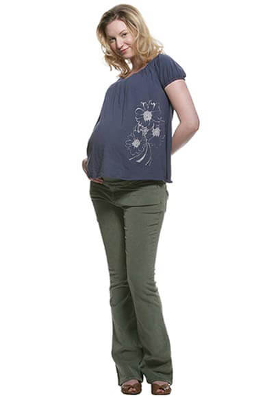 NOM2162 - Babydoll Tee in Navy ON SALE :  maternity casual maternity top maternity maternity clothes