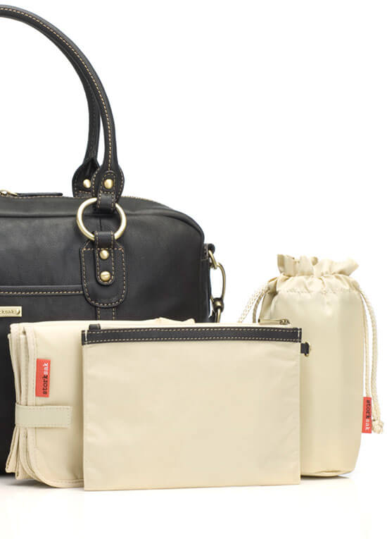 Storksak - Emma Leather Diaper Bag - saks.com