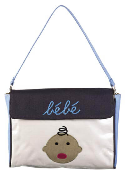 DB1593-5 - Bebe Blue Envelope :  nursing wear nappy bag maternity