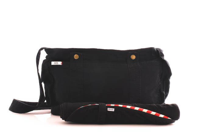 SN0001 - Black Canvas Nappy Bag SOLD OUT :  nappy bag maternity accessories maternity