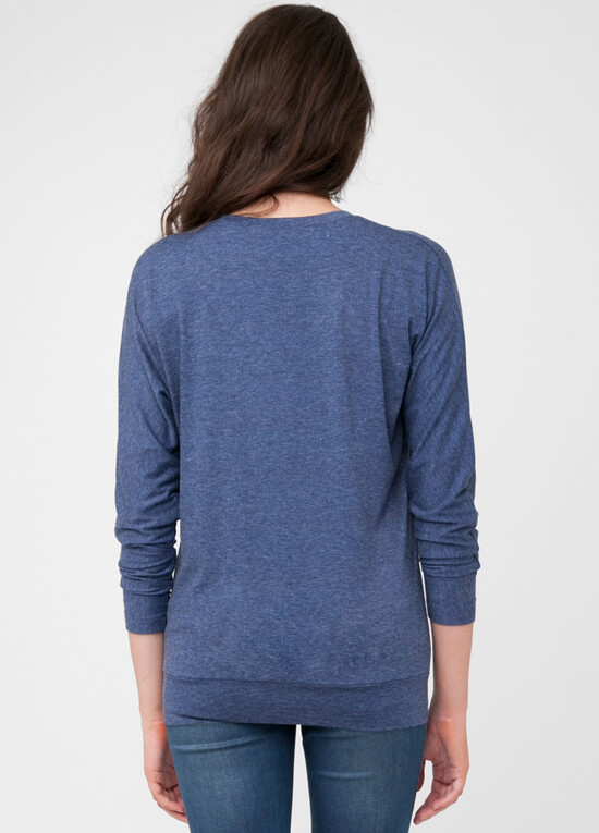 Batwing Maternity Nursing T Shirt In Blue By Ripe Maternity