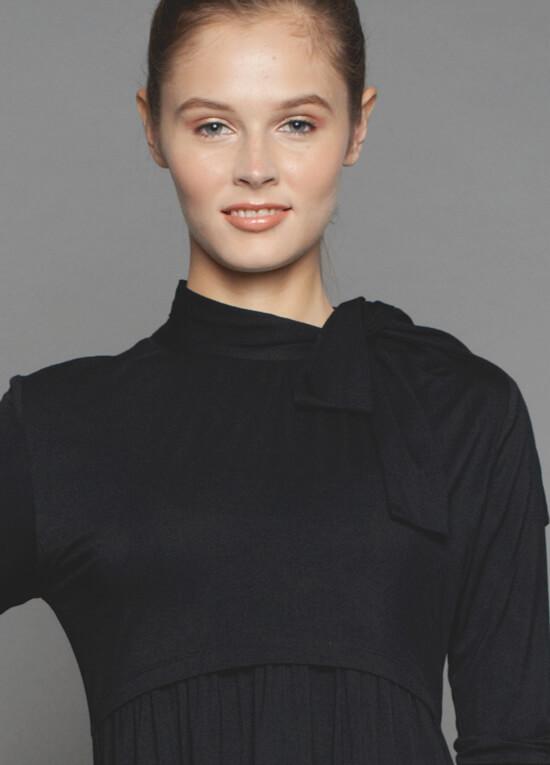 Estelle Maternity Nursing Dress In Black By Dote Nursingwear