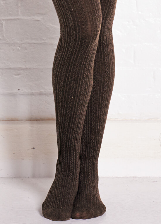Cable Knit Maternity Tights In Dark Brown By Noppies