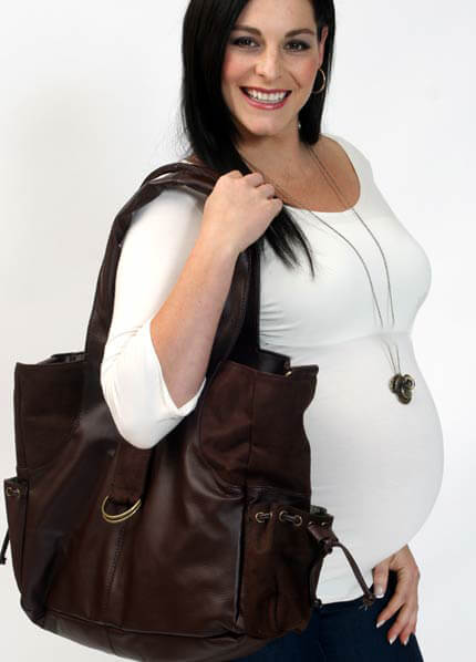 JB03 - Mama Nappy Bag in Chocky Mousse :  nappy bag maternity accessories maternity