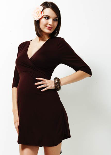 TRI-D-006 - Trimester Enchanted Jersey Wrap Dress - 2 colours :  breastfeeding clothes maternity clothes maternity clothing maternity