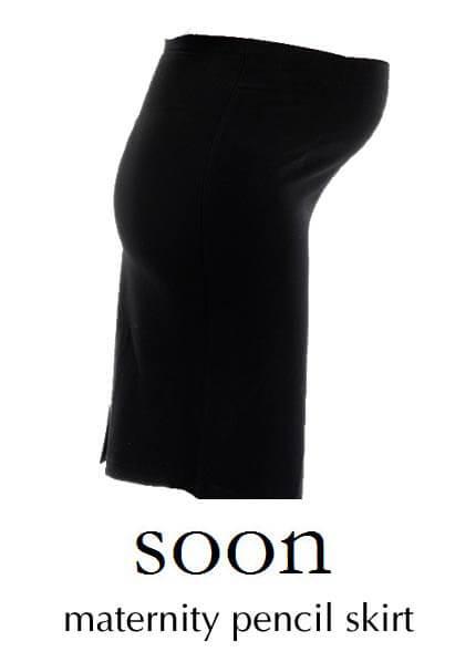 Black Maternity Pencil Skirt by Soon Maternity