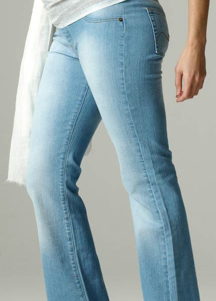 SER0038 - Seraphine Pale Wash Maternity Jeans :  maternity pants maternity fashion queen bee maternity maternity wear