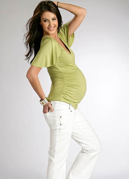 FM-T02 - Funmum Ruched Crossover Top :  nursing wear pregnancy maternity clothes maternity clothing