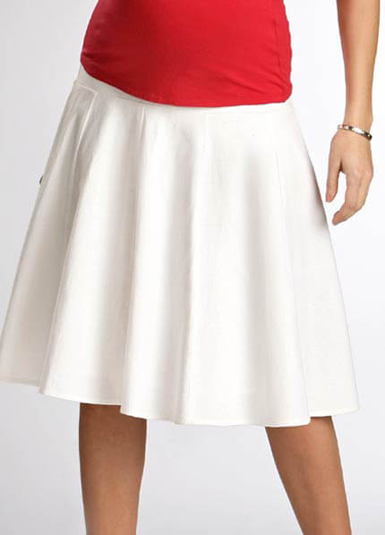 Funmum - Essential Linen Maternity Skirt * ON SALE *