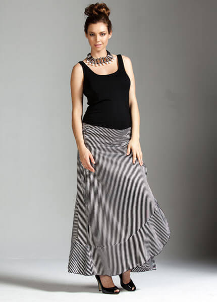 Opulent Satin Wrap Maternity Maxi Skirt By Trimester Clothing