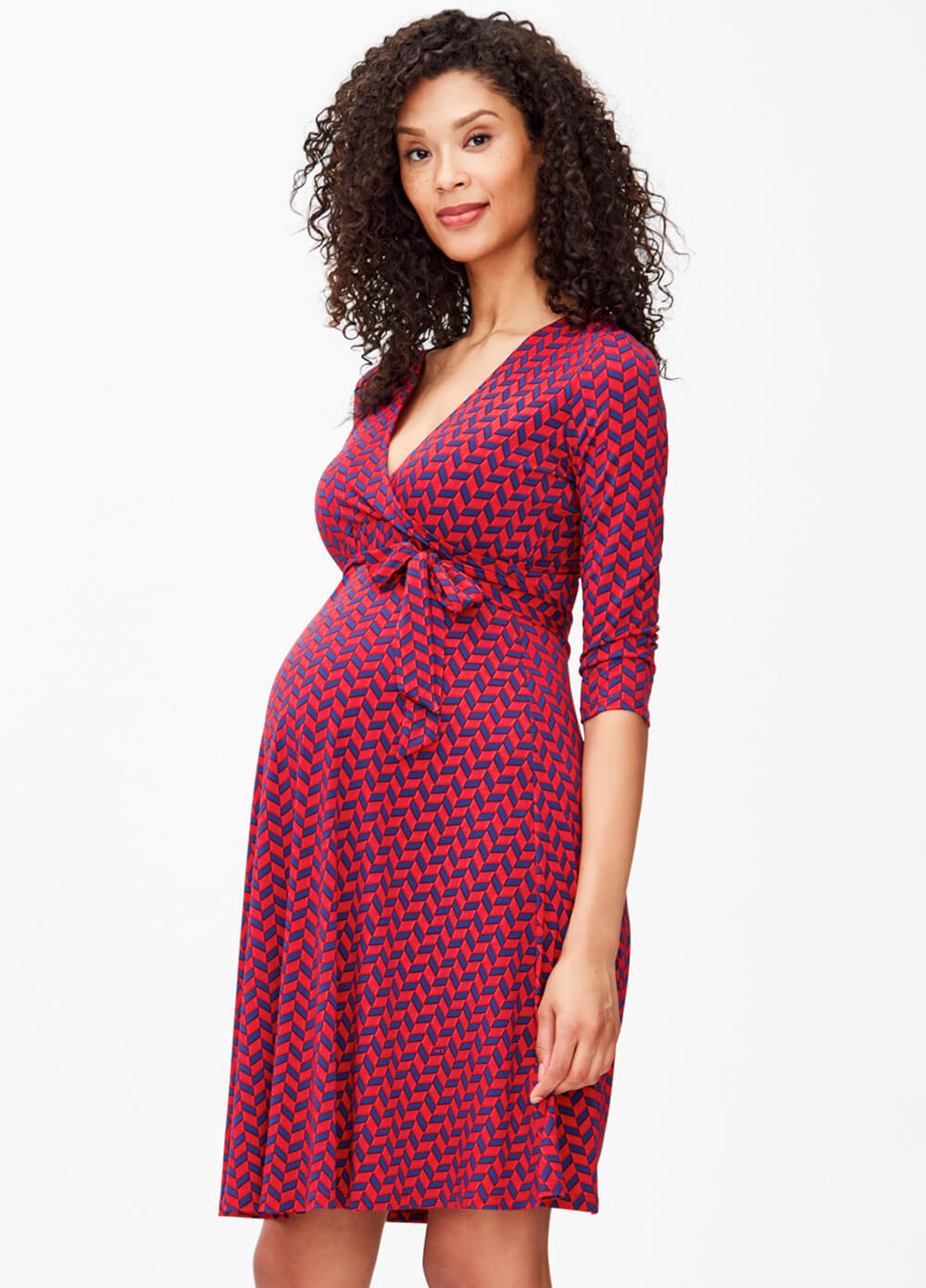 23a4a0d933cab Berry French Braid Perfect Maternity Wrap Dress by Leota