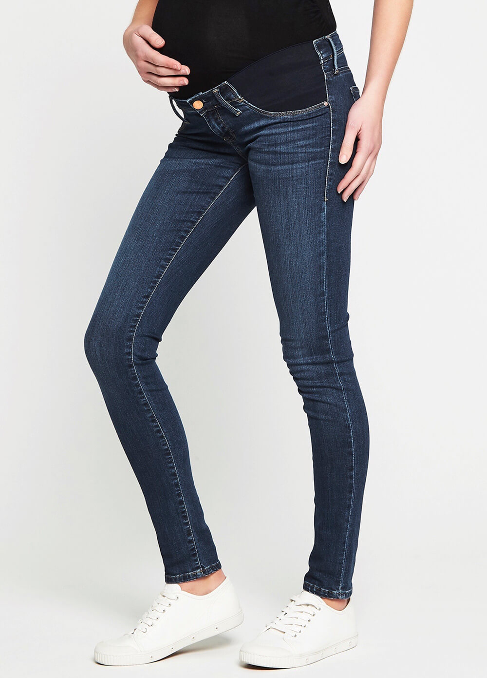 8abd449650eb6 Reina Mid Gold Reform Super Skinny Maternity Jeans by Mavi