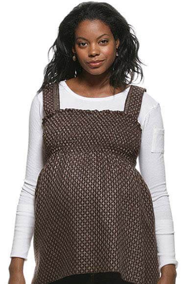 Juliet Dream - Lurex Shirred Tweed Maternity Tube Top :  maternity work clothes maternity fashion maternity tops pregnancy clothing