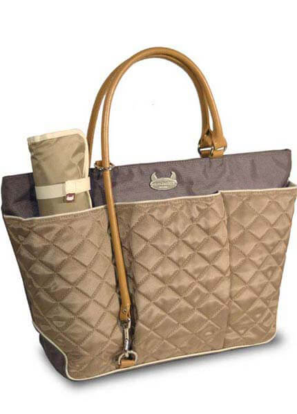 DB2416C - Baby Beatrix Tote - Grey/Khaki :  nursing wear nappy bag maternity