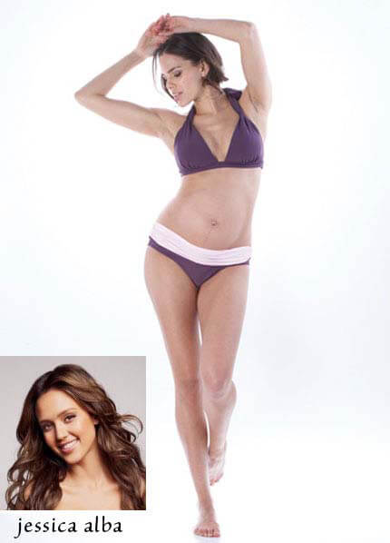 SER0017 - Jessica Reversible Bikini Band - worn by Jessica Alba :  hip maternity wear celebrity maternity wear maternity fashion sexy maternity