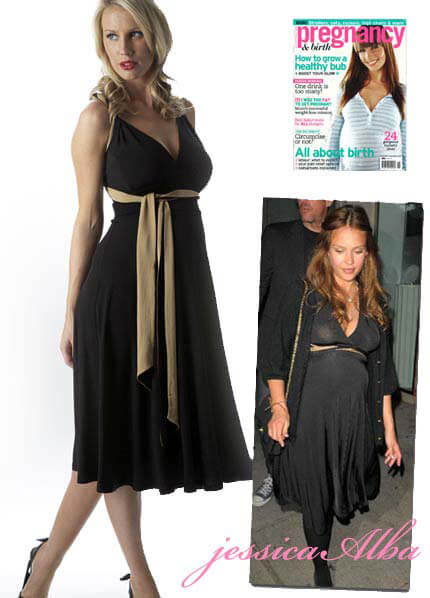 SER0024 - Seraphine Maternity Cocktail Dress (worn by Jessica Alba) :  designer maternity wear formal maternity wear celebrity maternity wear queen bee maternity