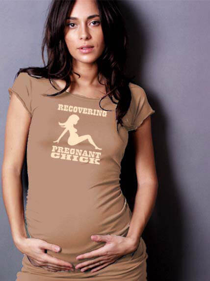 LAB40 - Dance Maternity Tee in Recovering Pregnant Chick design * ON SALE *