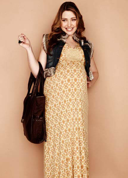 Juliet Dream - Paris Maternity Maxi Dress in Maize Print
