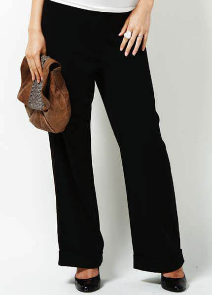 TRI-P-006 - Trimester Treasured Wide Leg Relaxed Pants :  maternity pants hip maternity wear maternity fashion queen bee maternity
