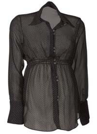 Crave - Double Button Spot Maternity Blouse * ON SALE *