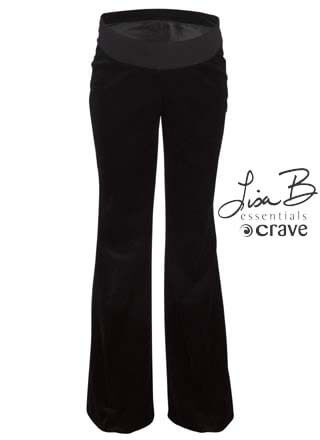 Crave - Essential Velvet Maternity Trousers in Black * ON SALE *