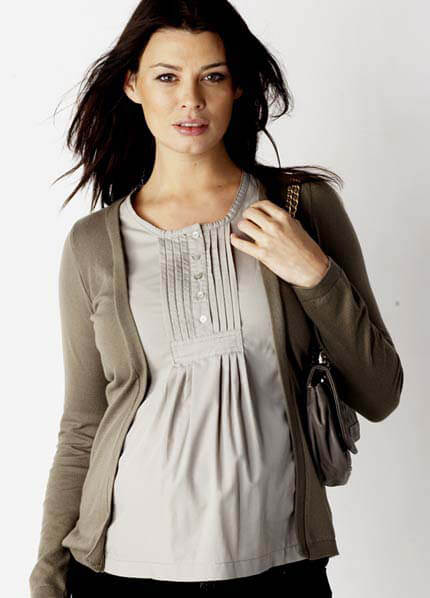 SER0030 - Stella Mock Layered Shirt :  maternity fashion maternity tops queen bee maternity maternity wear