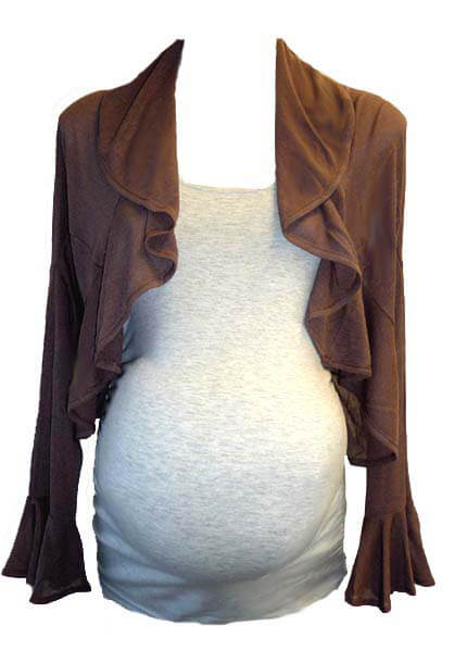 SNW9-912 - Vanessa Frill Knit Bolero :  hip maternity wear maternity fashion maternity tops queen bee maternity