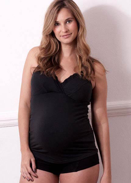 NU3161 - Netalia Nursing Cami in black :  nursing wear pregnancy maternity clothes maternity