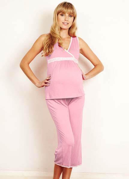 Queen Bee Babushka Maternity Pyjama Capri Set by Milky Way