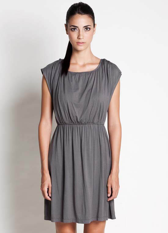 Noir Grey Nursing Dress :  formal maternity wear maternity clothes maternity clothing maternity
