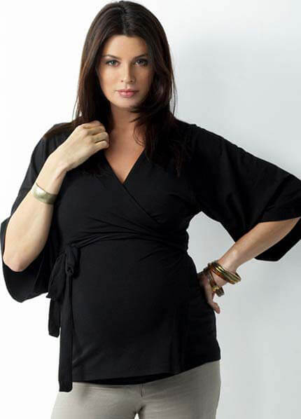 SER0033 - Seraphine Bella Kimono Wrap Top :  maternity fashion maternity tops queen bee maternity maternity wear