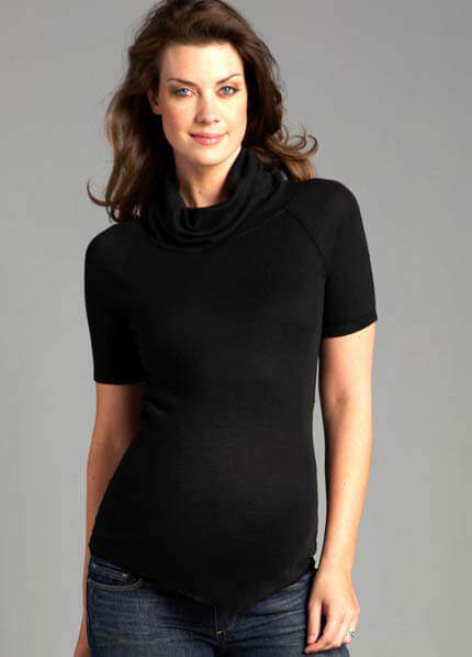 PT387 - PureT Short Sleeve Turtleneck - 3 colours :  maternity fashion maternity tops queen bee maternity maternity wear