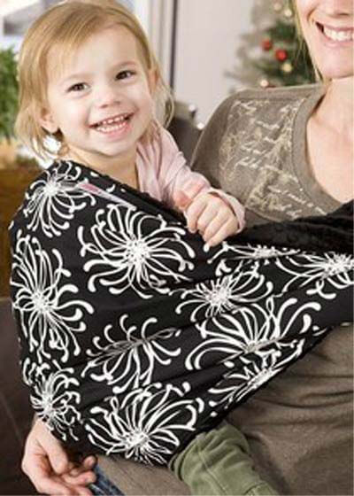 Lucky Baby - Briar with Plush Minkee Baby Carrier