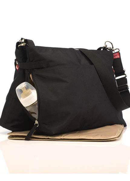 Babymel - Twin Traveller Nappy Bag in Black
