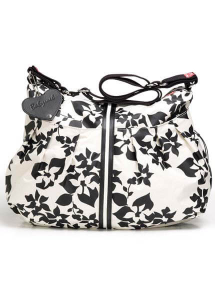 BM302 - Babymel White Floral Nappy Bag :  nursing wear pregnancy maternity clothes maternity jeans
