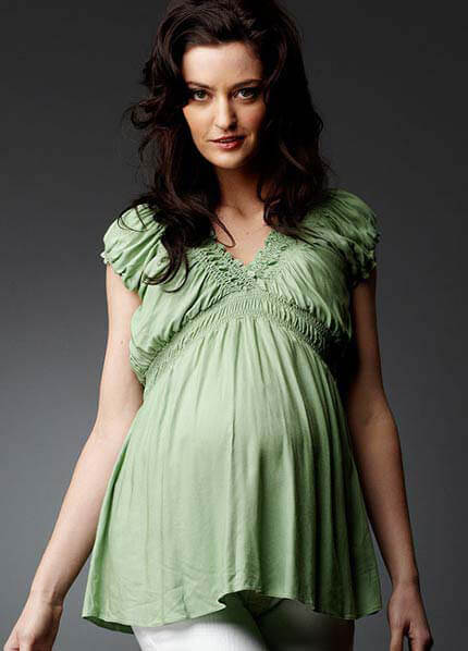 SNS6-411 - Soon Jess Gathered Cap Maternity Top - 3 colours