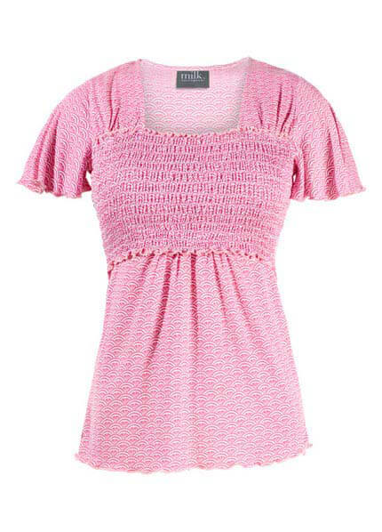 Milk Smocked Babydoll Nursing Top