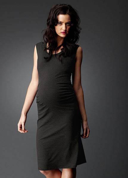 SNH6-81K - SOON Sienna Tank Dress - Khaki Stripe