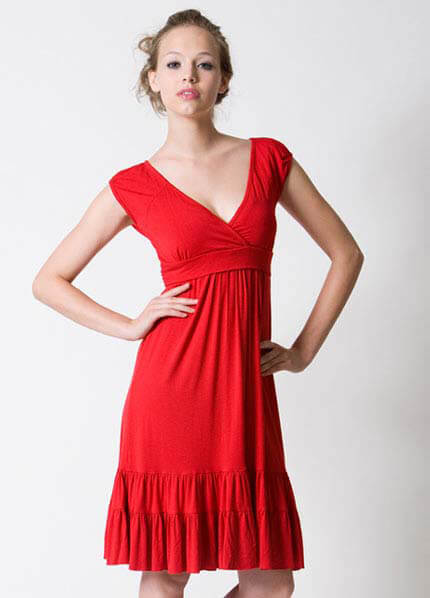 Dote - 9th Street Nursing/Maternity Dress in Red :  breastfeeding clothes maternity clothing maternity maternity wear