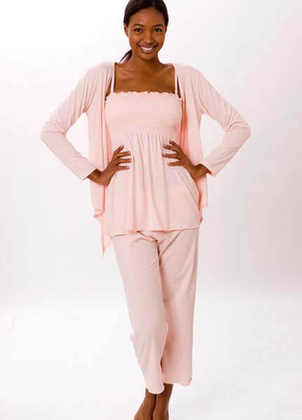La Leche League - Bamboo Lounge/Sleepwear 3 piece Set :  nursing wear maternity clothing maternity maternity wear