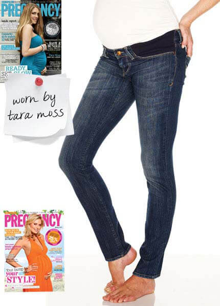 Queen Bee Jessica Deep Tinted Soft Skinny Maternity Jeans by Mavi