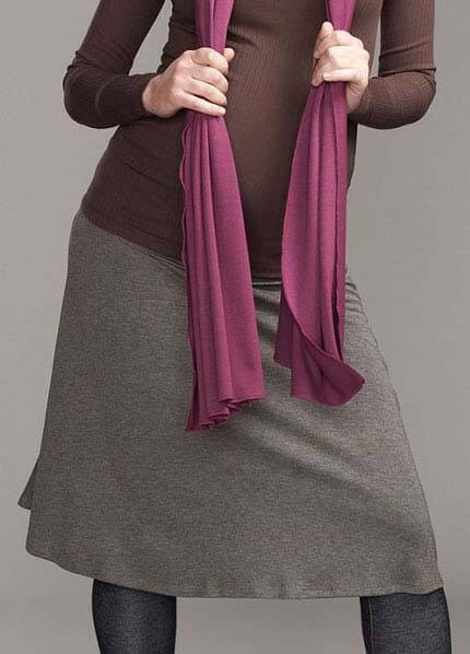 Queen Bee Knit Maternity Skirt in Brown by Maternal America