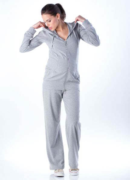 Queen Bee Lopez 2-piece Maternity Tracksuit in Grey by Seraphine